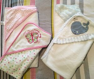 Baby girls and baby boys hooded bath towels in good used condition South Yarra Stonnington Area Preview