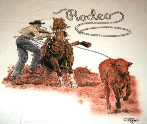 """Rodeo Riders T-shirt  """" Natural """" LG ( 42 ~ 44 )"""