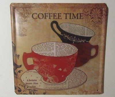 Blechschild Schild 20x20 Retro Vintage Reklame Blech Partykeller Coffee Deko