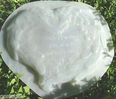 Elegant plastic angel wings heart mold concrete mold plaster mould