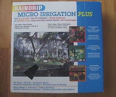 NIB RAINDRIP MICRO IRRIGATION PLUS DIY ALL-IN-ONE SPRINKLER SYSTEM KIT R538D
