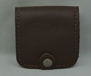 Genuine Leather CARTRIDGE / AMMO / SHELL CARRIER CASE POUCH 5 Holder - NEW Brown