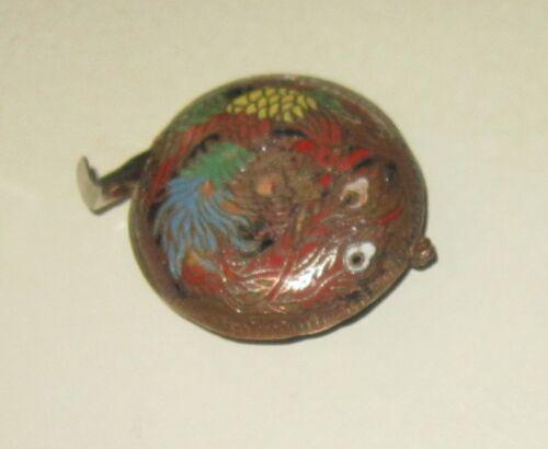 Very unusual vintage Dragon cloisonne measuring tape