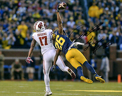 Jourdan Lewis Reprinted auto signed 8x10 football photo Michigan Wolverines INT