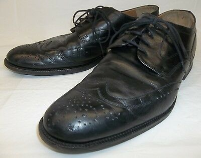 Johnston Murphy Mens US11 Black Leather sheepskin signature series Lace...