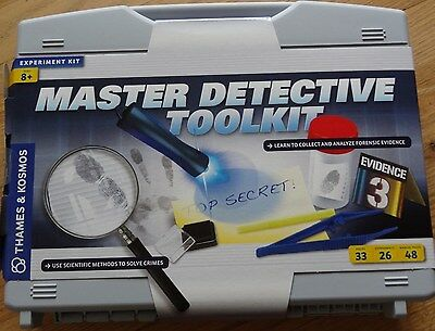 Master Detective Tool Kit Thames & Kosmos Forensic Science Analyze Evidence