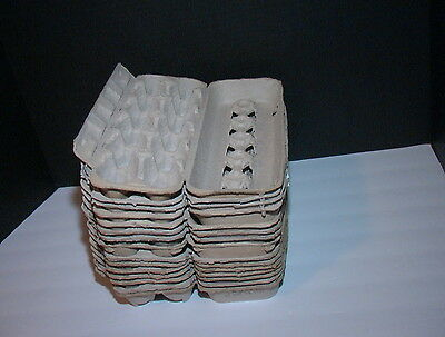 15 Chicken Egg Cartons Paper Trays Hatching Art Crafts Paint Pallet