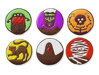Spooky Halloween Cookies (Tovolo Halloween Spooky Monster Cookie Cutter & 6 Design Stamps Set)