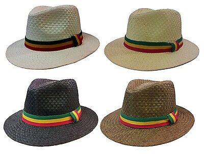 Cuban Hat (RASTA REGGAE CUBAN STYLE FEDORA TRILBY GANGSTER FEDORA PANAMA  HAT MEN CAP)