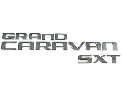 New Dodge Grand Caravan Van SXT Back Door Lift Gate Logo Emblem Badge Nameplate