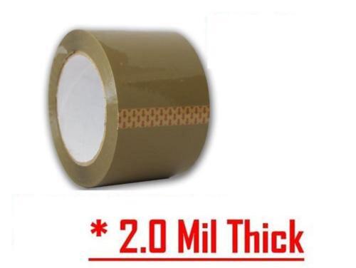 """6 Rolls Premium Brown Carton Box Sealing Packing Tape 2 Mil 2""""x110 yard"""