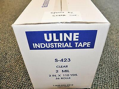 1 Case 36 Rolls Uline S-423 Packing Tape 2 X 110yds 2.0 Mil Free Shipping