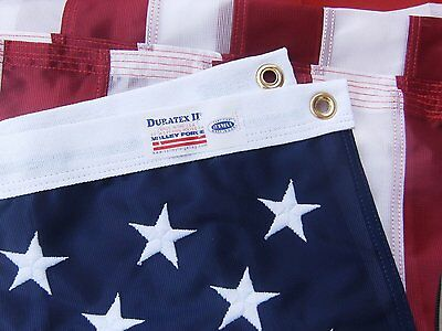 5x8 FT US American Flag Valley Forge Flag Duratex  Poly High Wind Embroidered