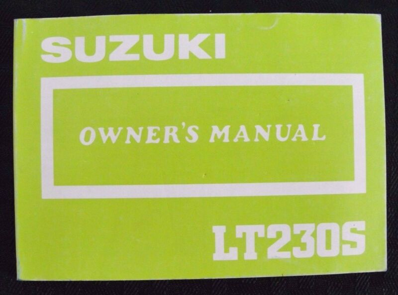 GENUINE 1986 1987 SUZUKI 230 LT230S QUAD RUNNER ATV OWNER