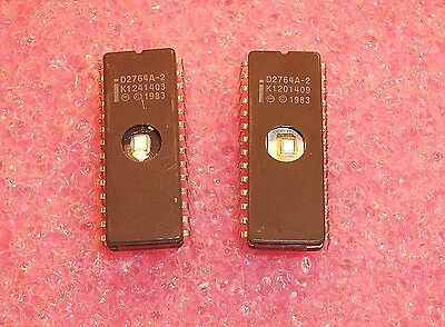 Qty 5 D2764a-2 Intel 28 Pin Ceramic Dip Eprom Socket Pulls Cleaned Erased