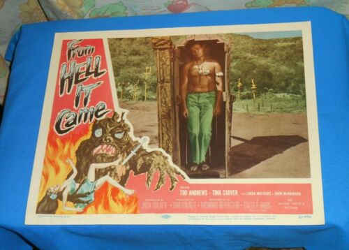 original FROM HELL IT CAME lobby card #3