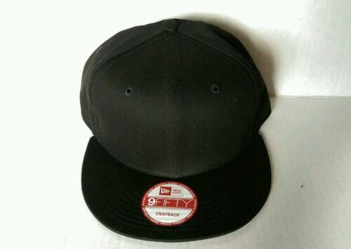 1X New Era 9Fifty Flat Snapback Hat Cap Blank { BLACK } NE
