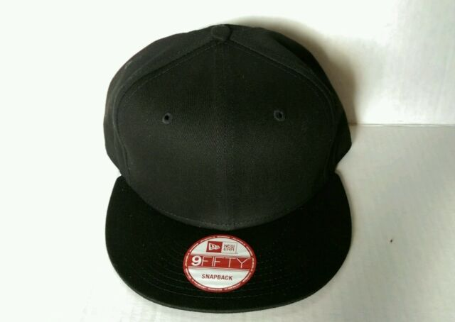 27011d2879cca 1x Era 9fifty Flat Snapback Hat Cap Blank Black Ne 9fifty for sale ...