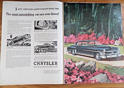 1951 Chrysler New Yorker Ad 1951 Texaco Havoline Oil Ad Golfer Hagen & Snead