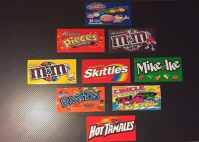 9 Vendstar 3000 Vending Machine Candy Stickers Label Free Shipping