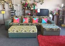 TODAY DELIVERY MODERN COMFORT L SHAPE lounge suite PLUS OTTOMAN Belmont Belmont Area Preview