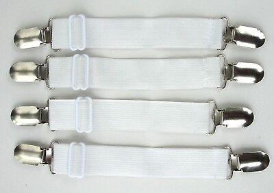 4 Bettlakenspanner / Bügelbrettbezugspanner extra breit 2,5cm  bis 33 cm dehnbar