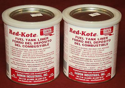 Red Kote 2 Qts Coat Gas Oil Diesel Fuel Tank Sealer Liner Patch Hit Miss Engine