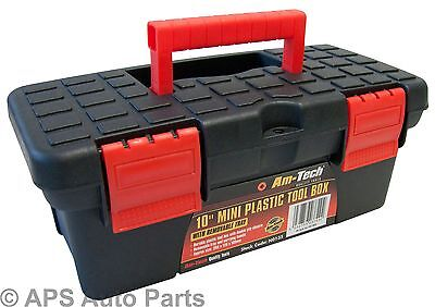 "10"" Mini Plastic Tool Box Removable Tray Storage Builder DIY Fishing Garage Bag"