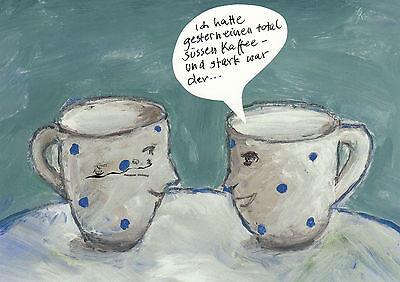 Postkarte/ Postcard: Nele Andresen - Stark / Kaffee / Tassen