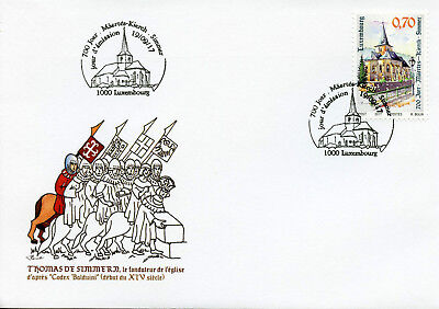 Luxembourg 2017 FDC Simmer Church 700 Yrs 1v Set Cover Churches Tourism Stamps