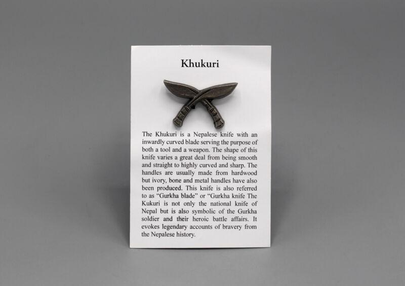 Nepali Khukuri Pin Badge