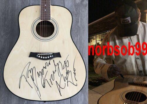 "POST MALONE SIGNED 41"" ACOUSTIC GUITAR wEXACT PROOF & RARE INSCRIPTION & BAS COA"