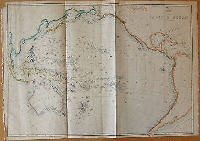 1863  LARGE ANTIQUE MAP - DISPATCH ATLAS- THE PACIFIC OCEAN