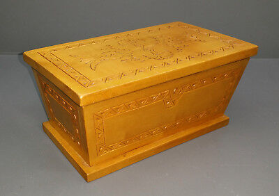 Wooden Box - Carved