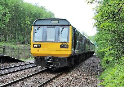 142034+150140 Arriva Rail North 6x4 Quality British Rail Photo b
