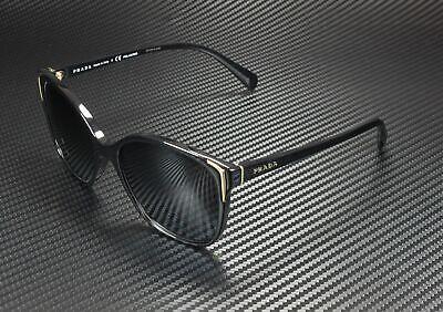 PRADA PR 01OS 1AB5W1 Conceptual Black Polarized Gray Grad 55 Women's Sunglasses