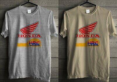 Honda Racing Retro Track Team Classic Distressed Print Natural T-Shirt