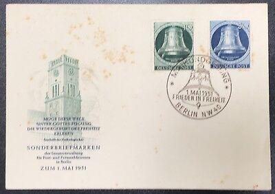 Berlin FDC Mi.Nr. 75 und 78 Freiheitsglocke links