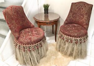 Bombay & Co. Skirted Vanity Chairs & Ascott Side Table