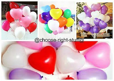 100 ❤ MIX LOVE* HEART BALLOONS*Wedding Party Romantic ballon Valentines Birthday