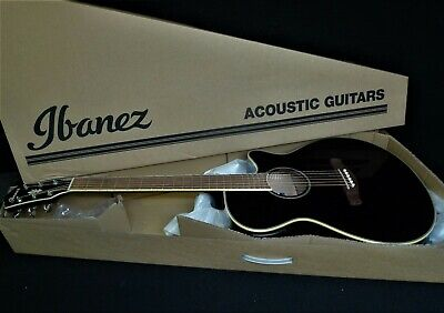 IBANEZ AEG10II-BK Acoustic-Electric Guitar EQ w/ Tuner Fishman pickup JET BLACK