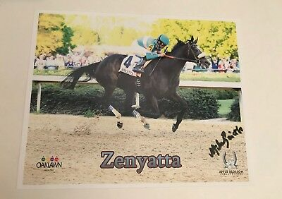8x10 Zenyatta race horse and jockey print *SIGNED*
