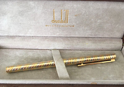 Dunhill fountain pen: Ltd Edition 18 Carat Gold Collection - rare!
