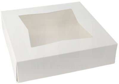 9 X 9 X 2 12 White Window Paperboard Pie Bakery Box Pack Of 15