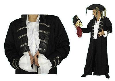 L schwarz Pirat mittelalter Kostüm Henker Piratenmantel NEU (Henker Kostüme)