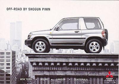Official Mitsubishi Shogun Pinin Promotional Postcard