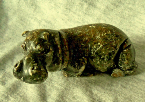 Small Carved African Soapstone Hippopotamus