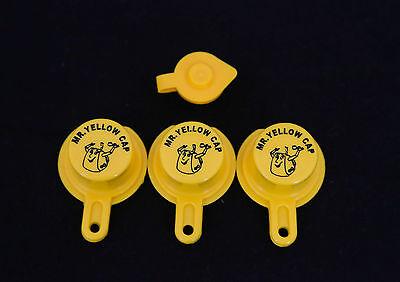 3x Blitz Yellow Spout Caps For Gas Can Spouts 900302 900092 900094 - Free Vent