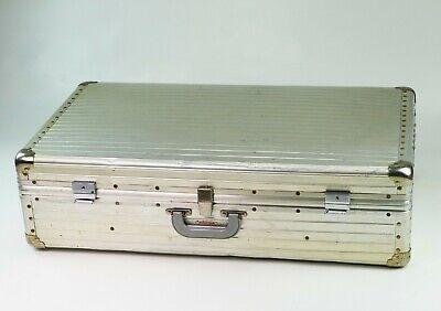 Ancienne valise Rimowa en aluminium vintage suitcase trunk