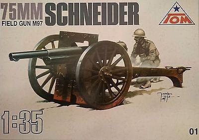 75 mm Feldkanone 'Schneider  M97 , 1:35 , TOM , Plastikbausatz , *NEU*